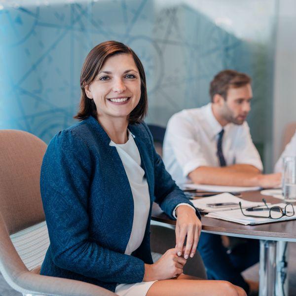 Confident woman executive